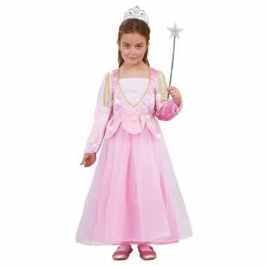 Roze glitter prinsessen carnavalskleding meisjes