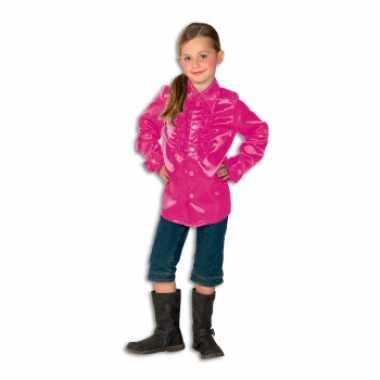 Roze hippie blouse meisjes carnavalskleding
