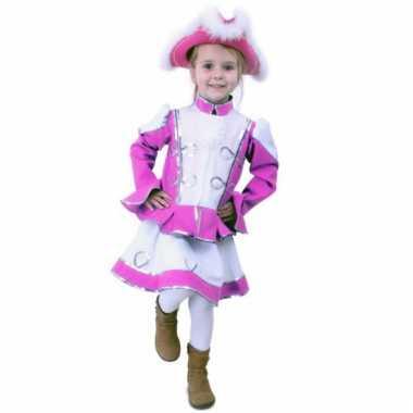 Roze majorette carnavalskleding meisjes