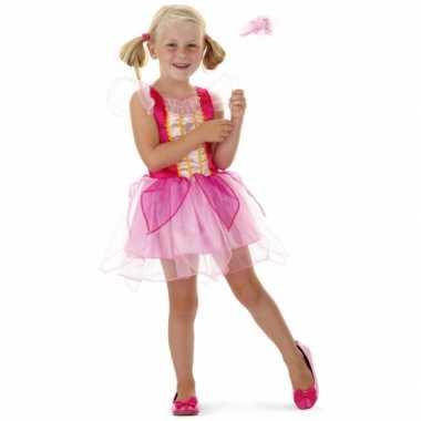 Roze prinsessen carnavalskleding toverstaf meisjes