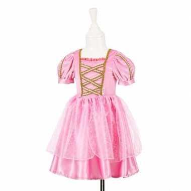 Roze prinsessencarnavalskleding kant meisjes