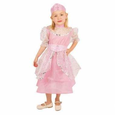 Roze prinsessencarnavalskleding meisjes