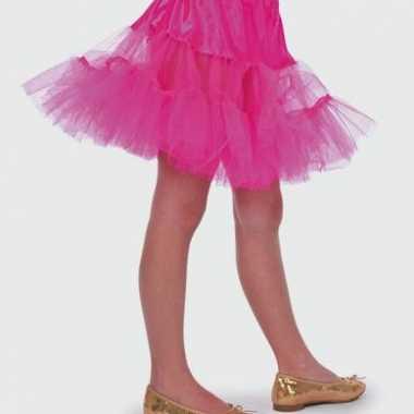 Roze tule rokje meisjes carnavalskleding
