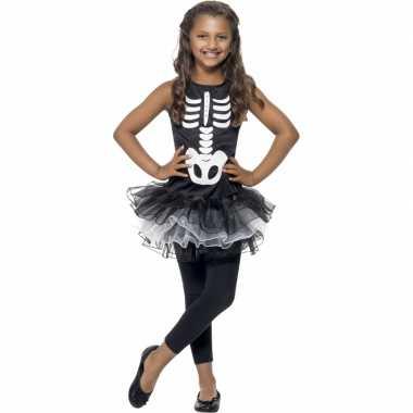 Skelet carnavalskleding tutu meisjes
