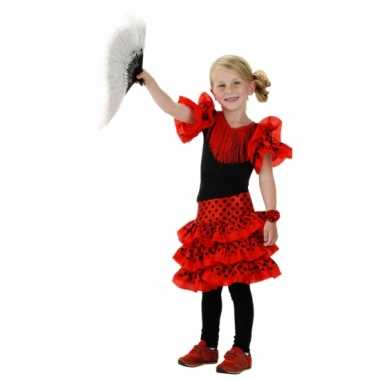 Spaans carnavalskleding rood meisjes