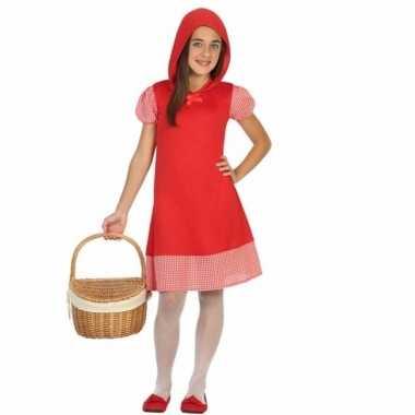 Verkleed carnavalskleding roodkapje capuchon meisjes