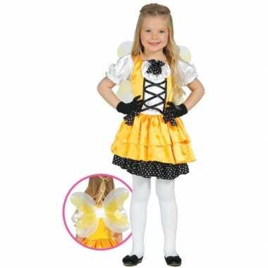 Vlindercarnavalskleding meisjes geel