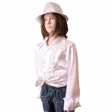 Witte hippie blouse meisjes carnavalskleding