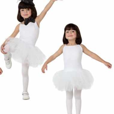 Witte tutu meisjes carnavalskleding