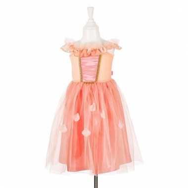 Zalm roze prinsessencarnavalskleding kant meisjes
