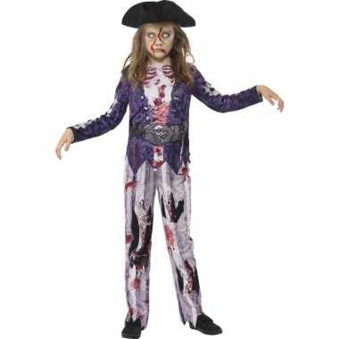 Zombie piraat carnavalskleding meisjes