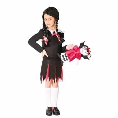 Zwart schoolmeisje carnavalskleding meisjes