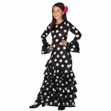 Zwarte flamenco carnavalskleding meisjes